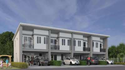 new 3 bed townhouse for sale in Mae Phim, Rayong