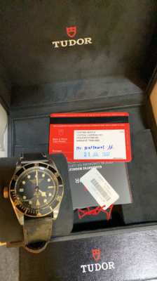 TUDOR BLACK BAY S&G: USED LIKE NEW CONDITION Ref 79733n