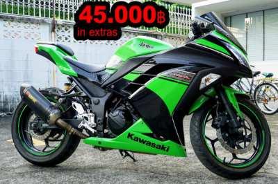 Ninja 250R Special Ed. 45.000฿Extras 4000km Like New Kawasaki