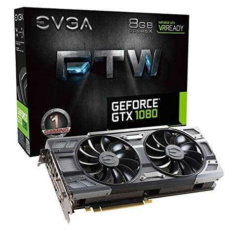 EVGA GeForce GTX 1080 FTW GAMING 8GB ACX 3.0 Graphic Card