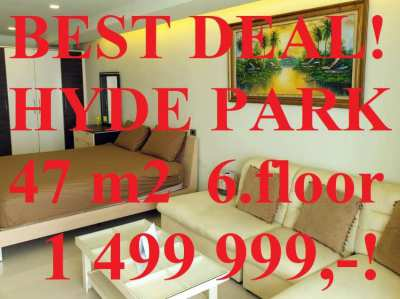 FIRESALE! Big 47m2 City Condo Hyde Park 1 Cheap!
