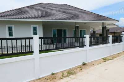 New Built L shape villa new built near Palm Hills north Hua Hin