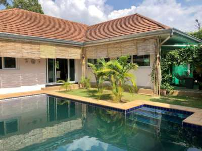 Family 3 Bedroom Villa With Private Pool and Big Garden