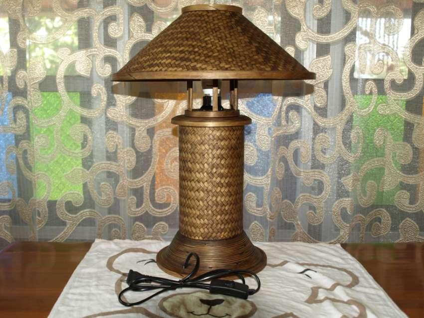 Traditional Thai Folk Art Bamboo Table Lamp 46