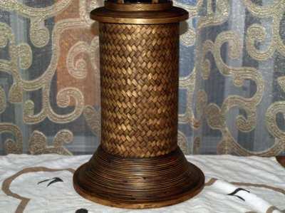 Traditional Thai Folk Art Bamboo Table Lamp 40