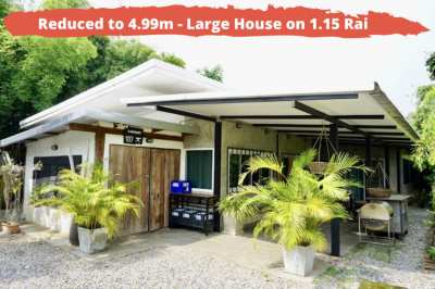 REDUCED to 4.99 million - Home on over 1.15 Rai of Organic Land