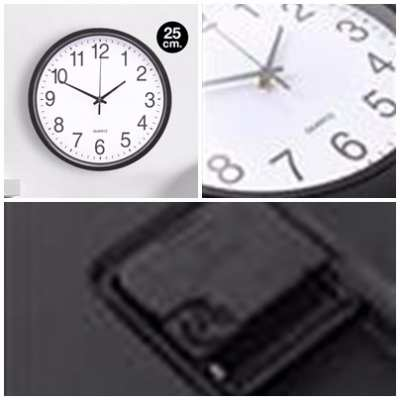 Wall Clocks, Price 150.- Wholesale Kerry 90.- - Black Round Wall Clocks