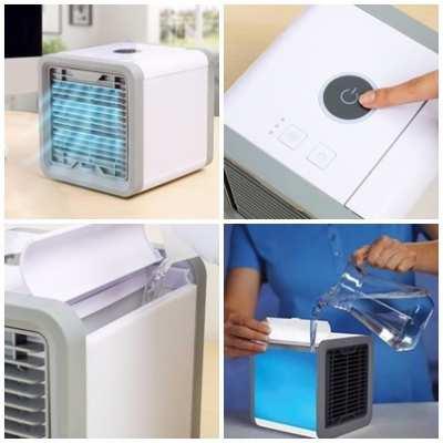 Arctic Air Desktop Misting Fan Product Details • - Vertical Misting Fan