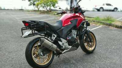 2013 Honda CB500X ABS, RED. Great Condition. Givi Bags, Pipe, Lights,