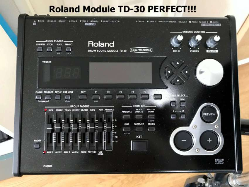 roland drum module td 30 vh 12 hi hat musical instruments phra khanong