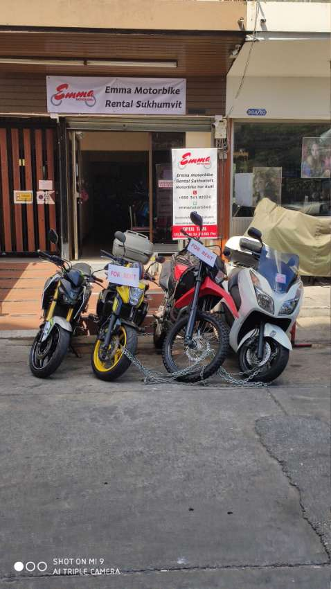 Dirt bikes for rent Sukhmvit, Phrakanong, Bangkok, daily, weekly and m
