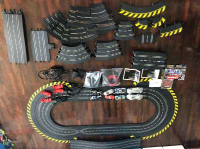 Carerra evolution slot car sets (like skalextric)