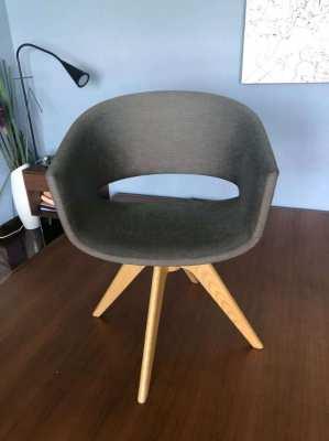 Single grey 'swivel' chair
