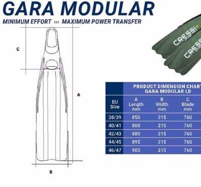 Cressi Gara Modular carbon blades