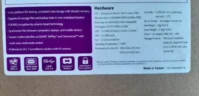 QNAP Secure Data Storage and Backup drive 2 TB