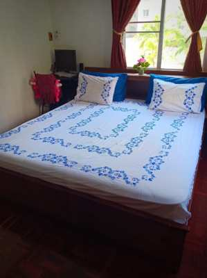 King Size Bed with Mattress  just today on Sale