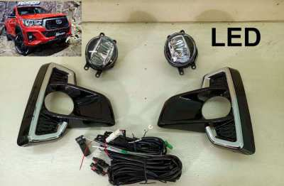 Toyota Hilux Revo Rocco spotlights full kit with cable/switch 1500baht