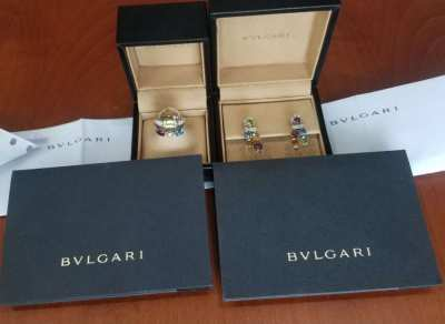 Bulgari Earrings and Ring - The Allegra Collection