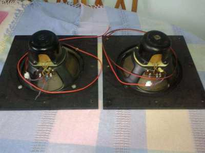 Pair Hammond Rola Field Coil Speaker with Power Supplies for Sale
