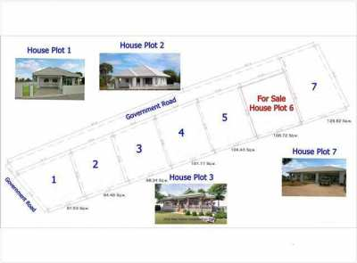 House plot for sale on established development in Buriram