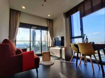 The Line Asoke-Ratchada 1Bed 35sqm Floor11 Large Room 2sided View