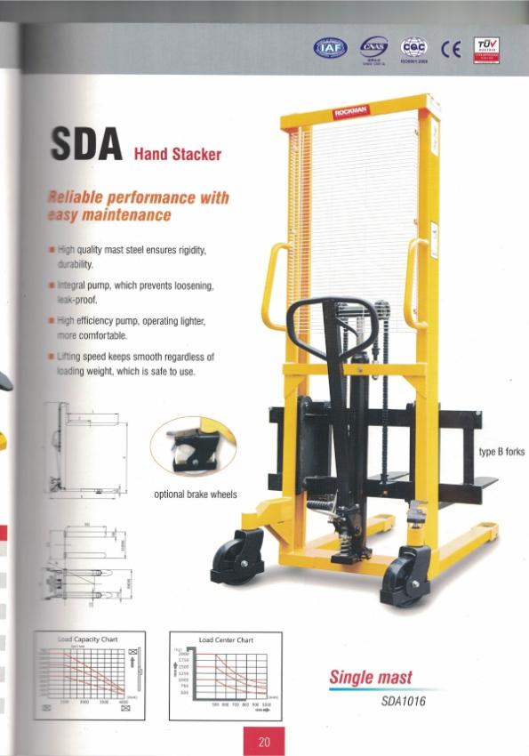 Manual Stacker ขนาด  1 ตัน