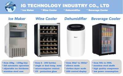 Wine Cooler, Ice Maker, Dehumidifier, Bevarage cooler