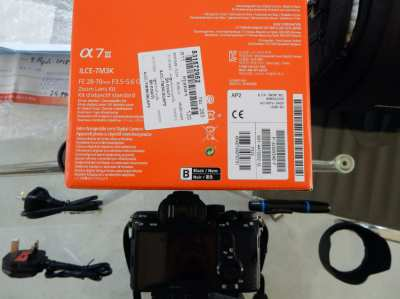 Sony Camera Alpha 7 III Price NEW 75.000.-- THB now only 49999.-- THB