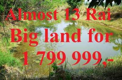 BEST DEAL! Almost 13 Rai Big Land for sale Khon Kaen