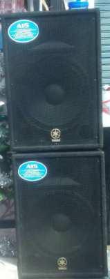 Yamaha speaker and mixer