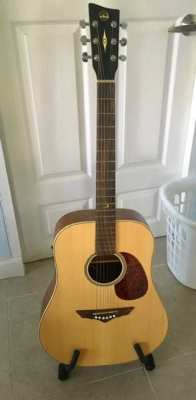 Electro Acoustic Guitar VGS RT-10E, made in Europe