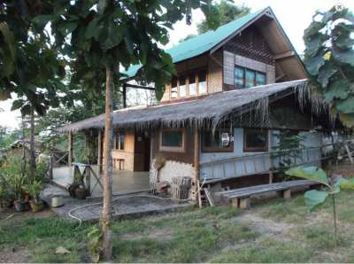 4 Rai land with two-storey house for sale in Pai, Thailand