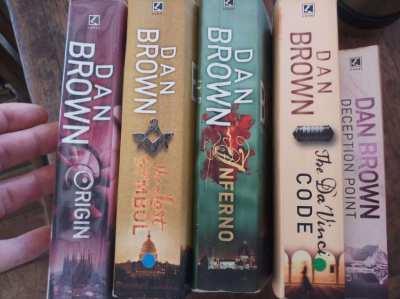 Dan Brown - 5 novels including 4 Robert Langdon ** free postage **