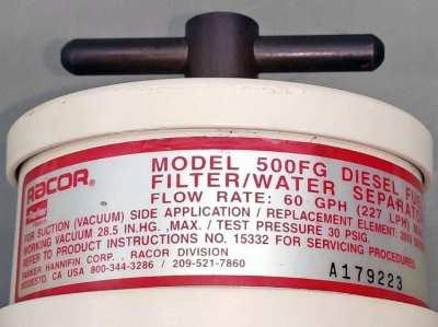 RACOR Diesel fuel filter for SALE