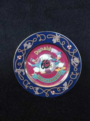 Donald birthday collectible plate