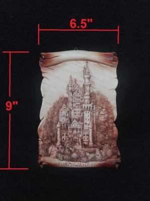 SOLD!!! German wall plate Neuschwanstein Castle