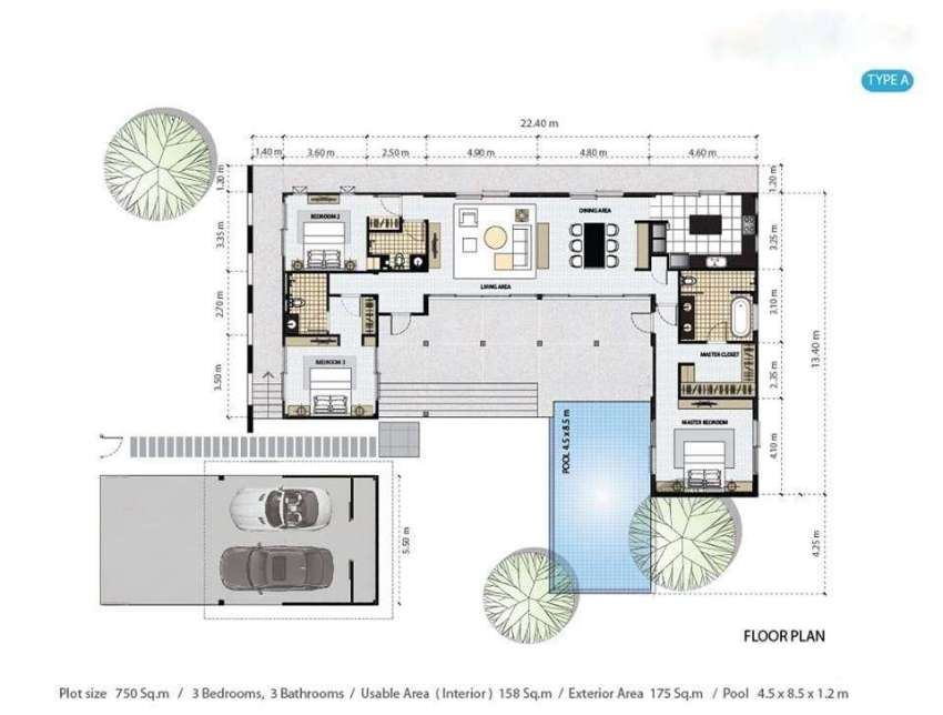 New Contemporary Style Pool Villa Near All Amenities