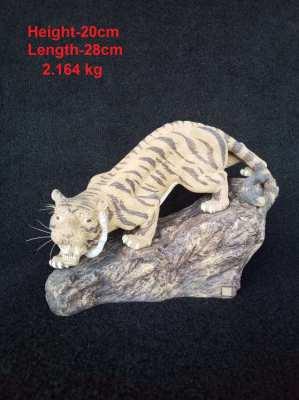 Ancient clay sculpture Phaya Tigers
