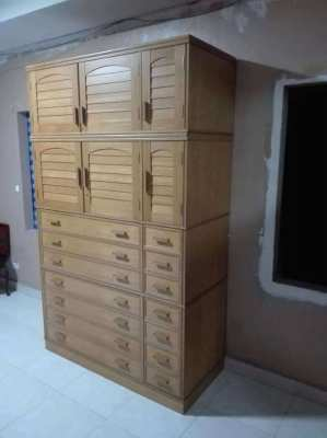 Large real wood wardrobe