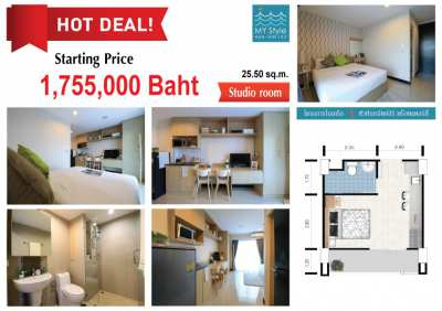New Project in Hua Hin Center - Lovely studio for sale