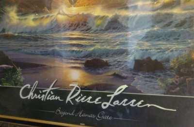 Art Christian Riese Lassen Framed Picture Household