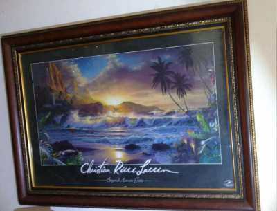 ART  Christian Riese Lassen framed picture.