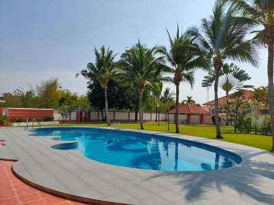 Fully Furnished 3 BR 2 BR Pool Villa on Large Plot