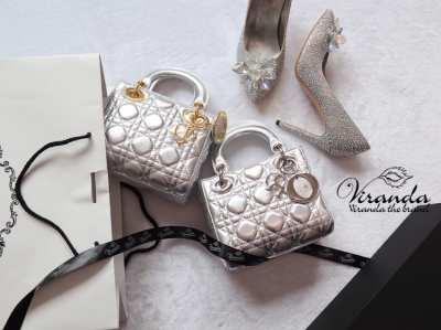 Ready to deliver ️ ️ ???? Lady Dior Genuine Sheep Leather Handbag Size 8 ???? Sweet Box by Viranda