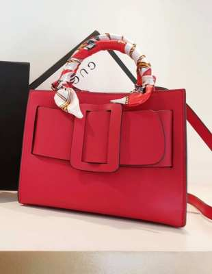 ✅ Instock ✅ Calf skin Genuine Calf Skin Leather Boyy Bag Size 24 cm Red
