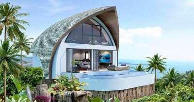 Spectacular Modern Design 1-2 Bedroom Sea view Villas, Koh Samui