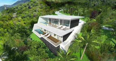 New Modern 2 Bed Sea View Apartments on Lamai Bay, Koh Samui