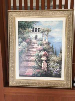 Framed artwork on canvas