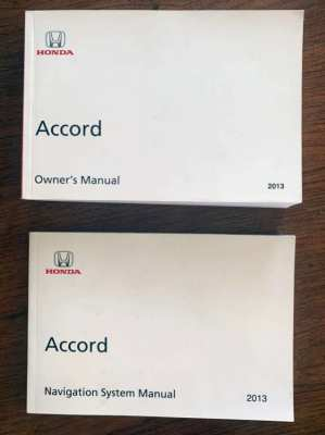HONDA ACCORD 2013 OWNER'S MANUALS (ENGLISH)
