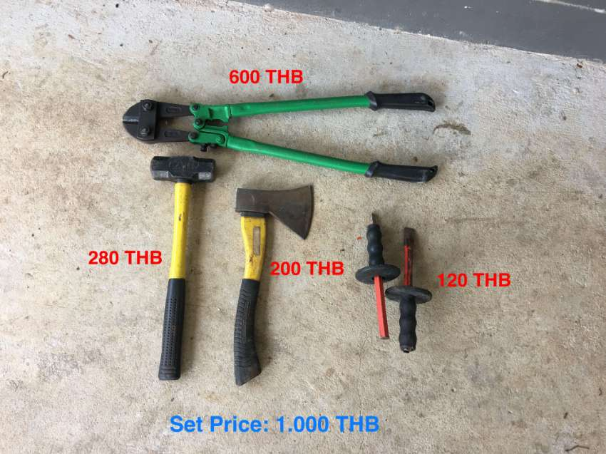 Heavy Tool Set for Sale  - SET 1.000 THB ONLY